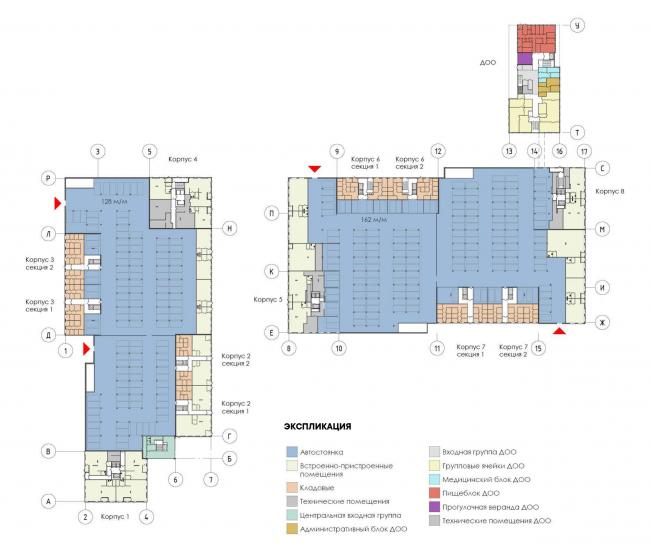 Многоквартирный дом на Шостаковича. План 1 этажа