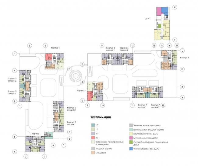 Многоквартирный дом на Шостаковича. План 2 этажа
