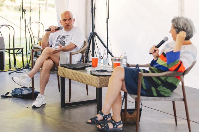 Pulic talk Анны Наринской и Григория Ревзина на открытии парка Парк Александра Бродского в Веретьево