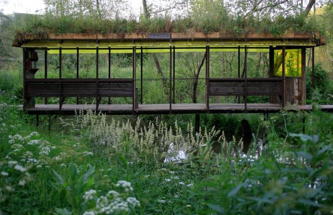 Крытый мост. Парк Александра Бродского в Веретьево