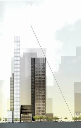 610 Лексингтон Авеню (справа – «Сигрем Билдинг»)