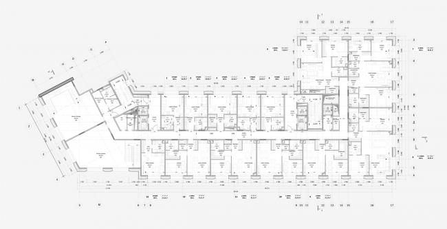 Реконструкция здания гостиницы «Варшава». План 2 этажа
