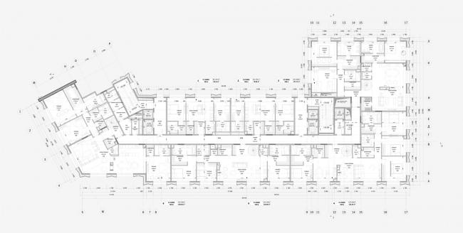 Реконструкция здания гостиницы «Варшава». План 9 этажа