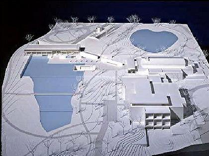 Центр Стоун-Хилл Института искусств Кларк. Проект. Макет