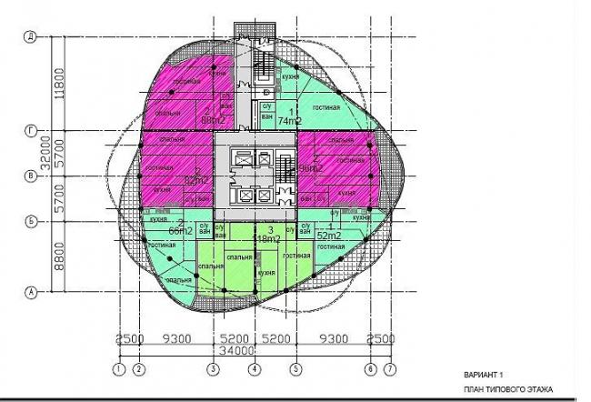 Планировка этажа. Вар.1