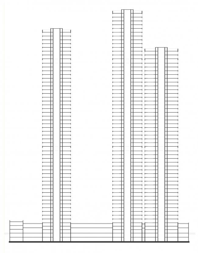 Разрез. Жукова 11 / Wellton Towers