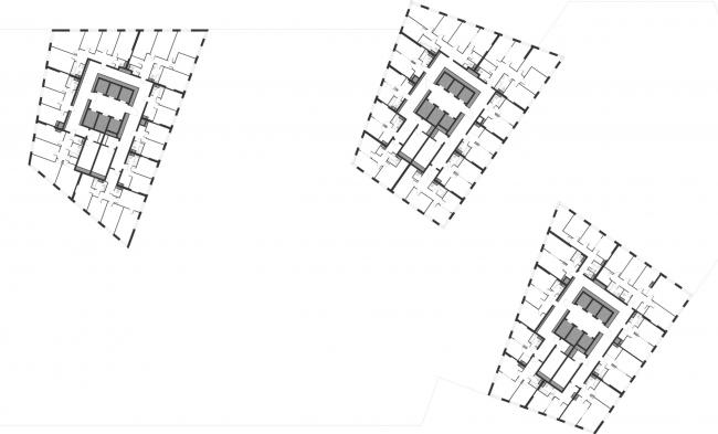 План типового этажа. Жукова 11 / Wellton Towers