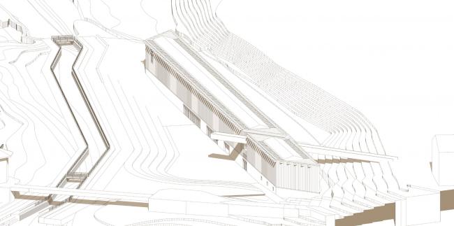 Музейный комплекс «Водные пути Севера». Аксонометрическая проекция