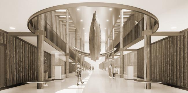 Музейный комплекс «Водные пути Севера». Интерьер главного экспозиционного зала