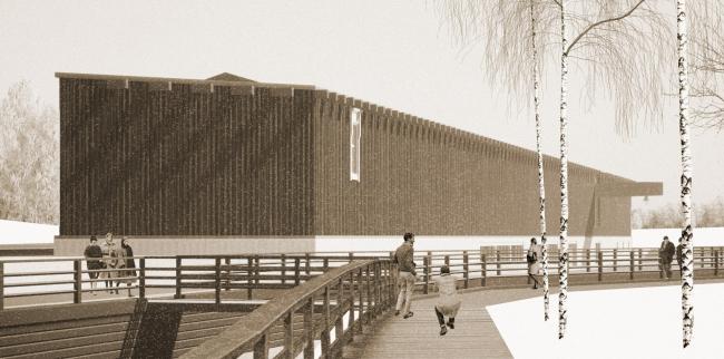 Музейный комплекс «Водные пути Севера». Вид на здание музея с севера