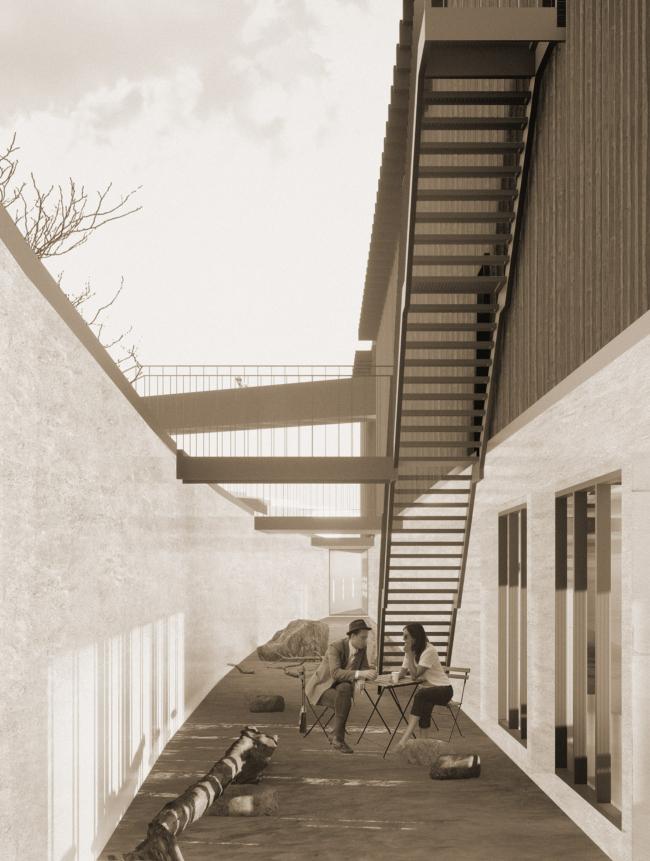 Музейный комплекс «Водные пути Севера». Внутренний двор