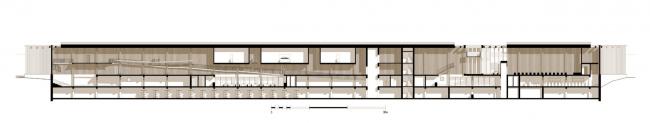 Музейный комплекс «Водные пути Севера». Разрез А-А