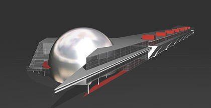 Торгово-развлекательный комплекс «Вояж». 3-D модель. Архитектурная мастерская Головин & Шретер