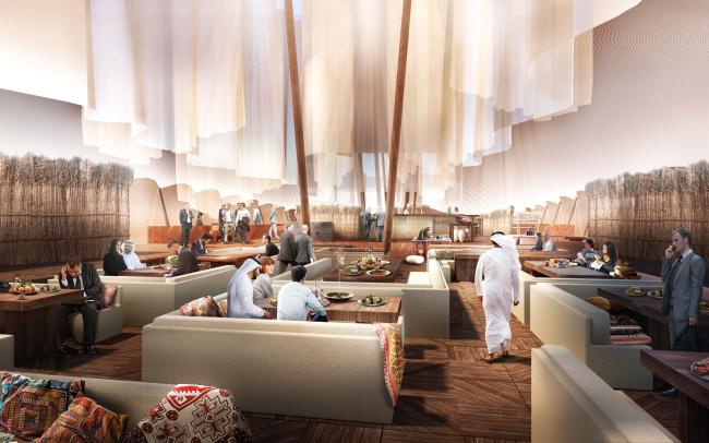 Qatar restaurant pavillon. VIP зона