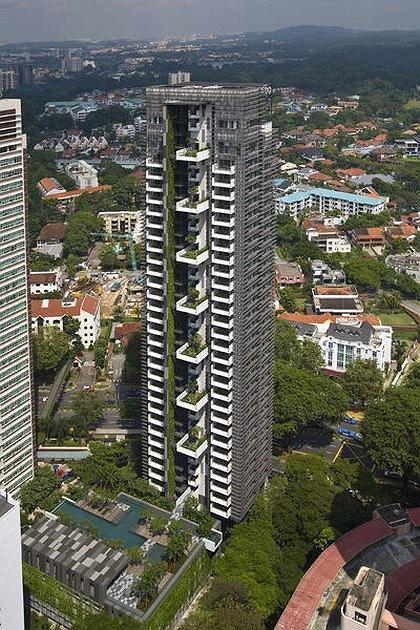 WOHA. Жилой комплекс Newton Suites в Сингапуре