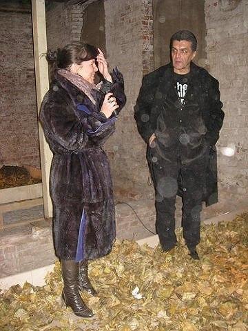 Куратор выставки Мария Седова и директор Музея архитектуры Давид Саркисян. Фото Марии Седовой