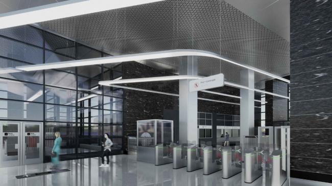 Станция метрополитена «Крымская» Троицкой линии