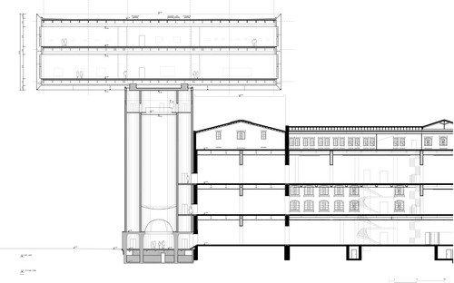 Музей Кюпперсмюле - новый корпус. Разрез