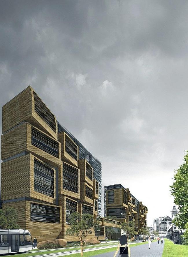 Студенческое общежитие на улице Рут-де-Пти-Пон в Париже © OFIS