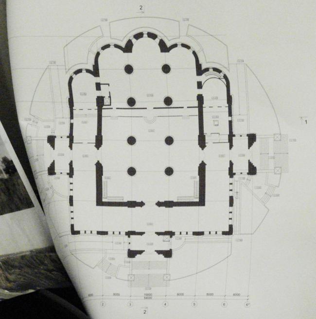 План Успенского собора архитектора Алексея Денисова. Из материалов, показанных на заседании