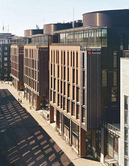 Торговый центр Камппи (архитектурное бюро Davidsson Architects, Хельсинки,1999–2005)
