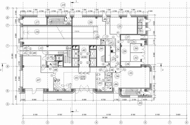 План 1 надзаменого этажа