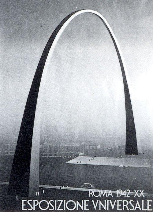 Арка Адальберто Либера на рекламном плакате Всемирной выставки-1942