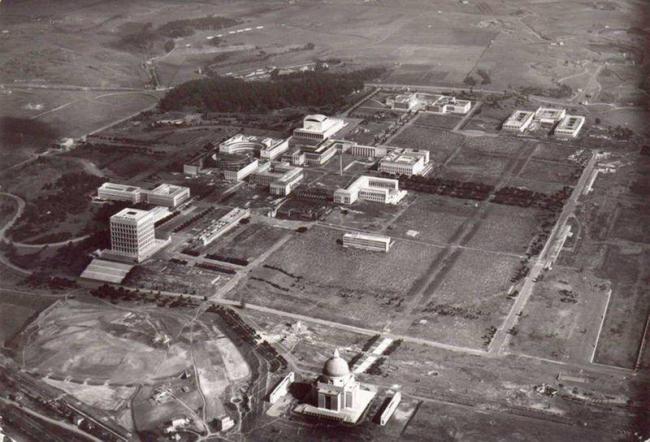 Район EUR в процессе строительства. Начало 1940-х годов