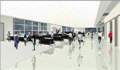 «Массовый» аэропорт в Бостоне