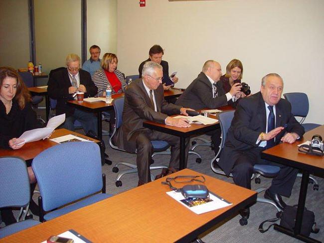 Участники Российской делегации на одной из встреч