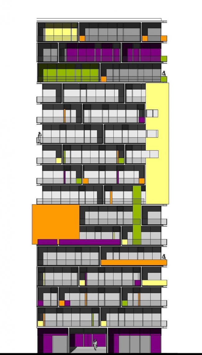 """Генеральный план жилого комплекса """"Gardens of cultures"""" на Пятницком шоссе. Башня / испанский стиль"""