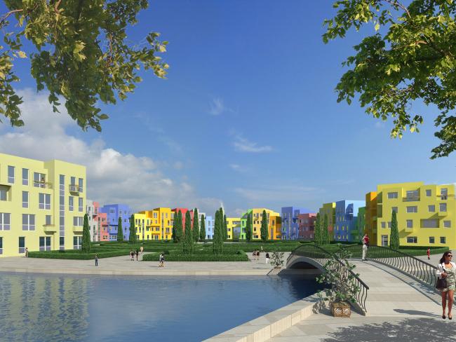 """Генеральный план жилого комплекса """"Gardens of cultures"""" на Пятницком шоссе. Остров"""