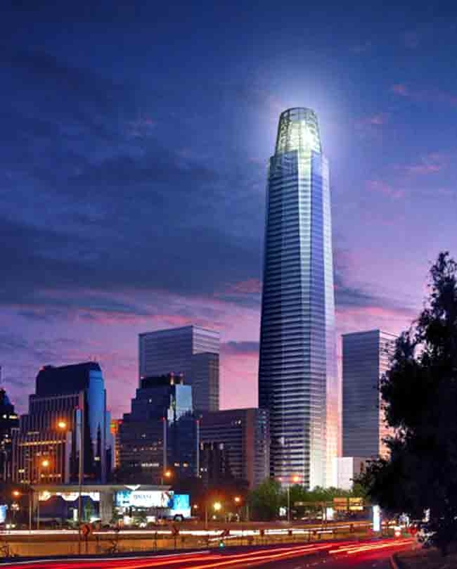 Небоскреб Gran Torre Santiago © Pelli Clarke Pelli Architects