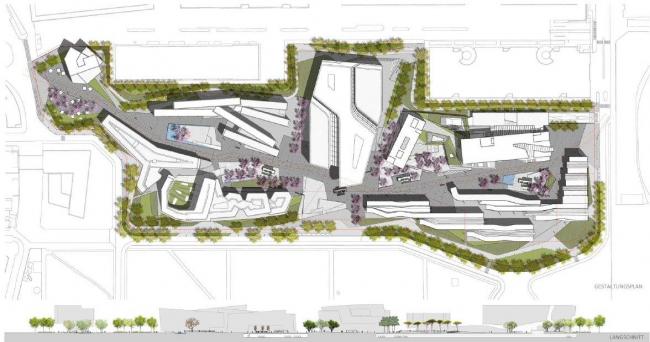 Кампус Венского экономического университета © Zaha Hadid/CRAB studio/Estudio Carme Pinos