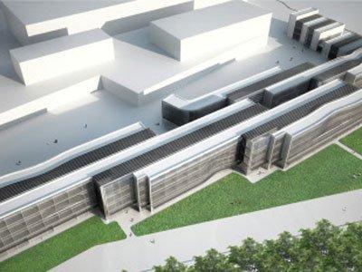 Кампус Венского экономического университета. Хитоши Абе. Учебный корпус