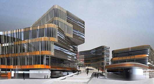 Кампус Венского экономического университета. Питер Кук. Учебный корпус