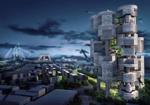 Mass Studies. Проект «Мутировавшие блоки и башни-роботы»