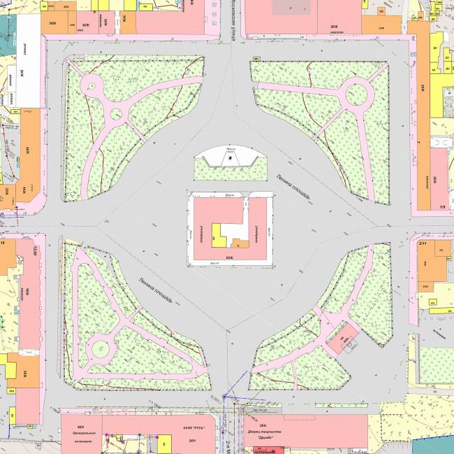 Генплан существующей площади