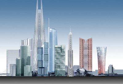 Панорама будущего крупнейшего делового комплекса Москва-Сити