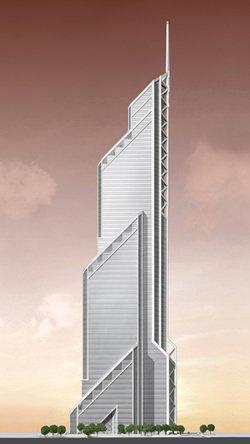 Визуализация Башни Меркури-Тауэр, западный фасад