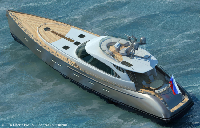 Яхта Liberty Boat 74 © ABD architects