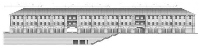 Фасад со стороны Овражного переулка