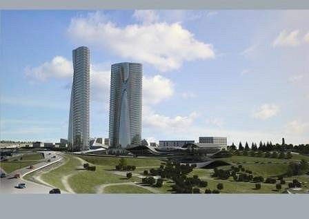 Общественно-деловой центр «Башни Содружества» в Уфе © ПТАМ Виссарионова