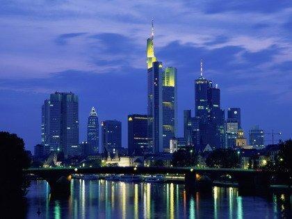 Франкфурт-на-Майне. Вид центра города