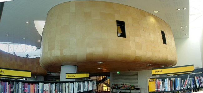 Библиотека района Пекэм. Фото: Mcginnly via Wikimedia Commons. Лицензия GNU Free Documentation License, Version 1.2