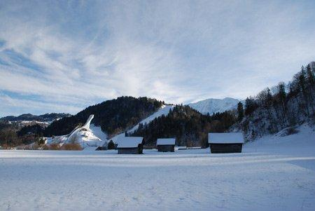 Олимпийский лыжный трамплин в Гармиш-Партенкирхене
