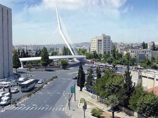 Мост линии легкой железной дороги. Проект