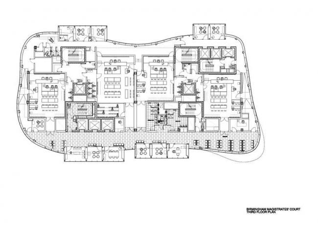 Суд магистратов Бирмингема. План 3-го этажа