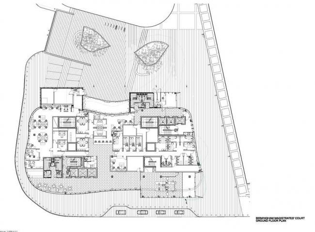 Суд магистратов Бирмингема. План 1-го этажа