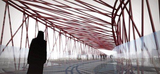 Мост для пешеходов и велосипедистов